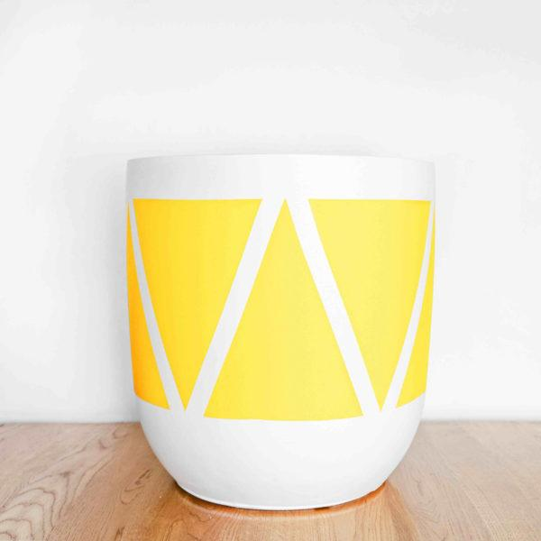 Wishbone Painted Planter by Pow Pots