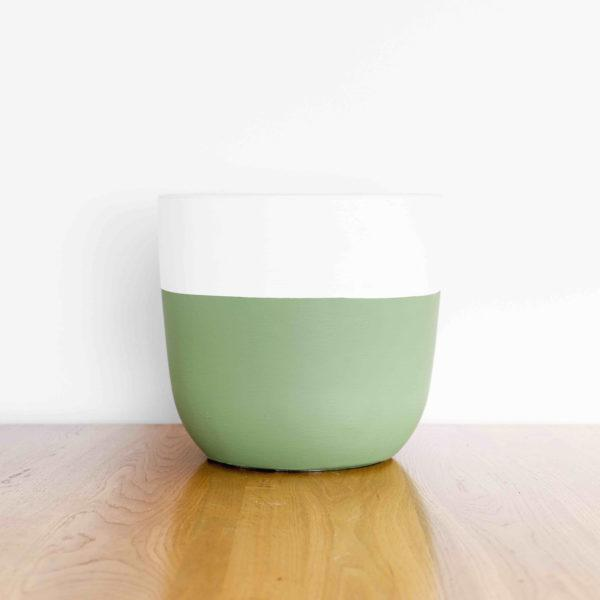 Half Full Painted Planter by Pow Pots