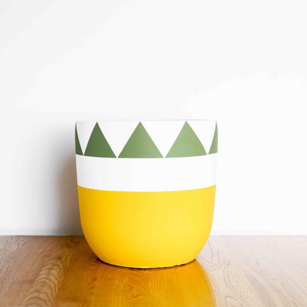 Pina Colada Painted Planter by Pow Pots