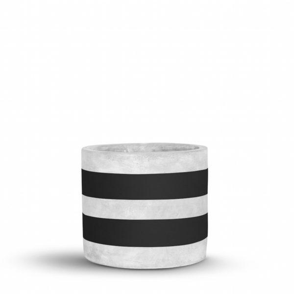 Concrete Two Stripes Planter by Pow Pots
