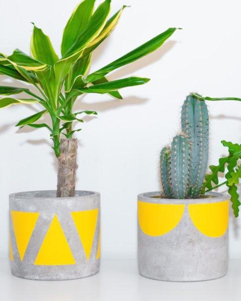 Concrete Wishbone Planter by Pow Pots
