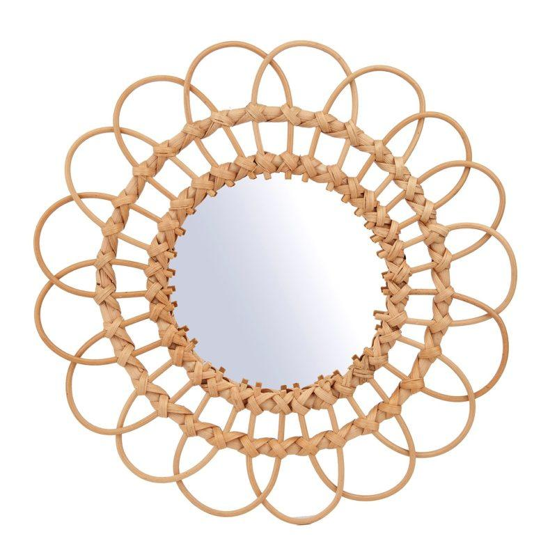 Rattan Wall Mirror - Large