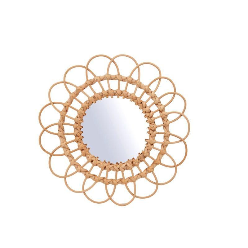 Rattan Wall Mirror - Small