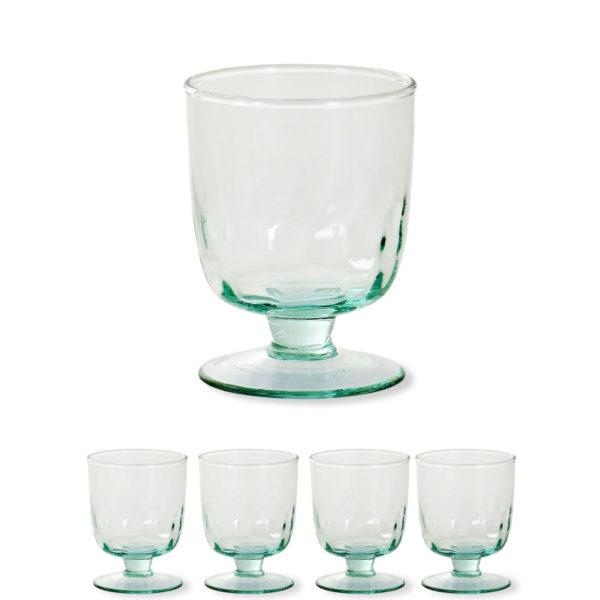 Broadwell Recycled Glass Wine Glasses - Set of 4