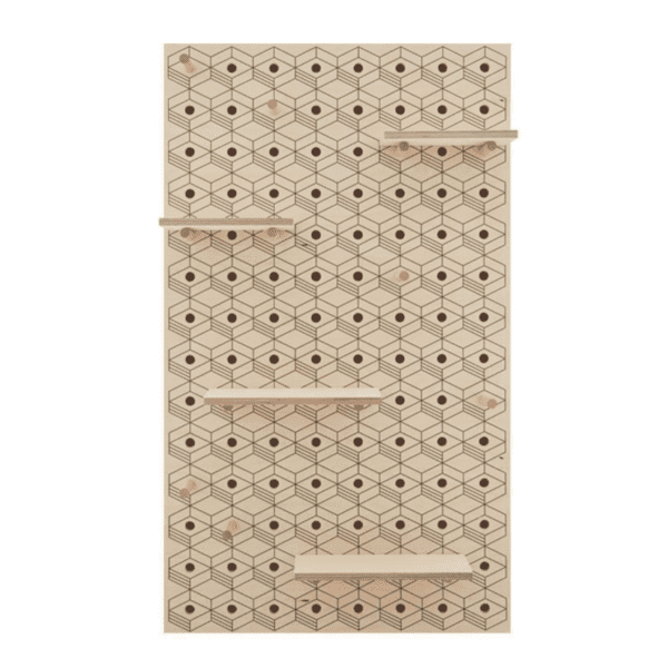 Peg-it-all Large 3D Pegboard with Pegs & Shelves