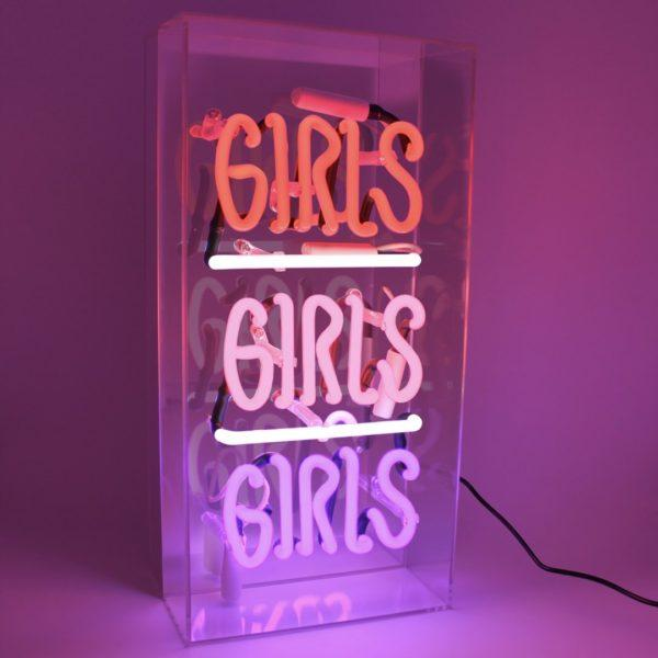 Girls Girls Girls Acrylic Neon Light Box