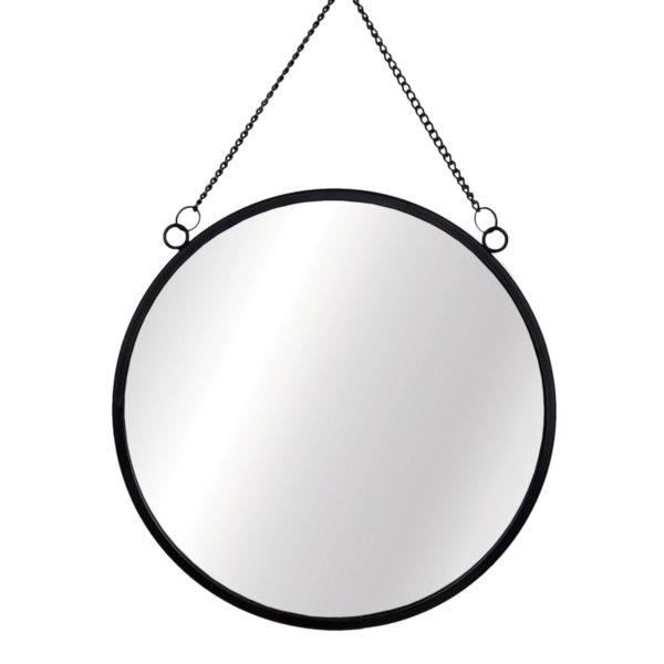 Monochrome Black Hanging Wall Mirror
