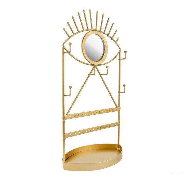 Gold Eye See You Jewellery Holder & Mirror