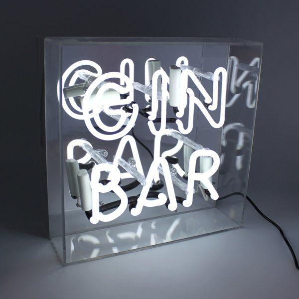 Gin Bar Acrylic Neon Light Box