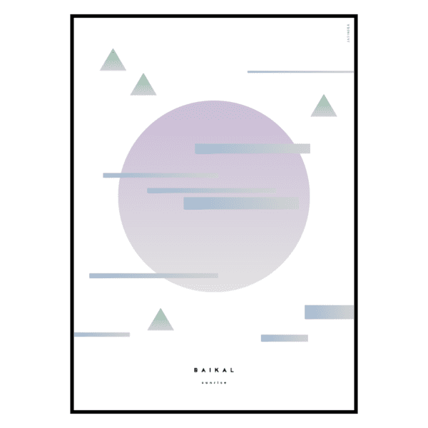 Pastels Collection Art Prints - Fuji Sunrise