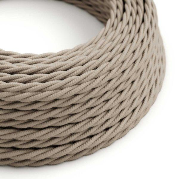 Fabric Braided Cable - Twisted Dove