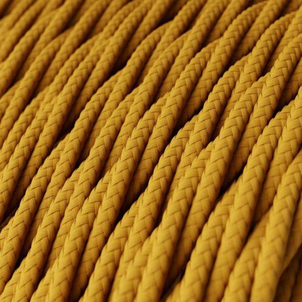 Fabric Braided Cable - Twisted Mustard
