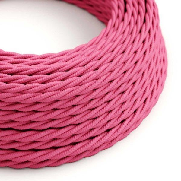 Fabric Braided Cable - Twisted Pink