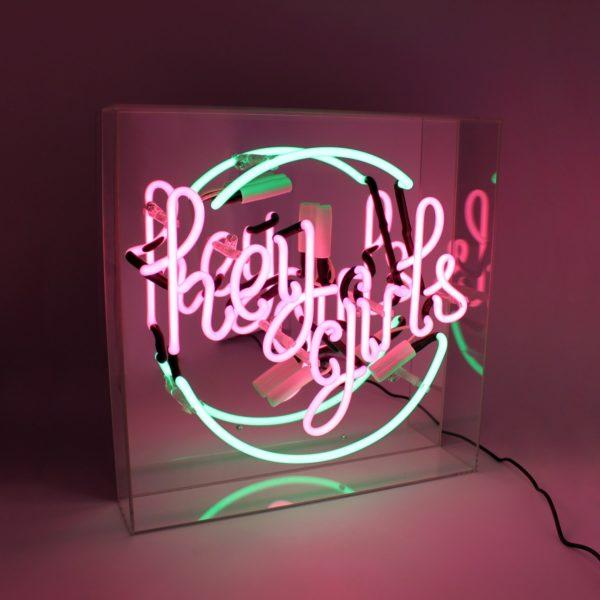 Hey Girls Acrylic Neon Light Box