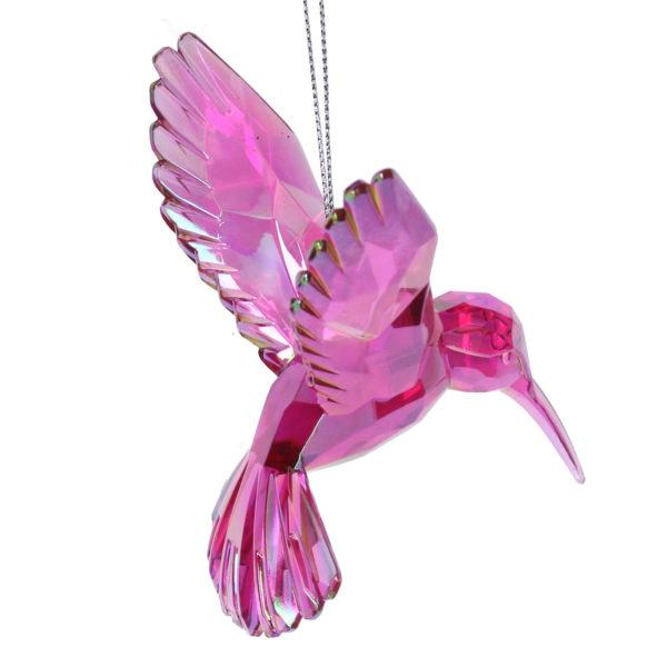 Pink Hummingbird Christmas Decoration