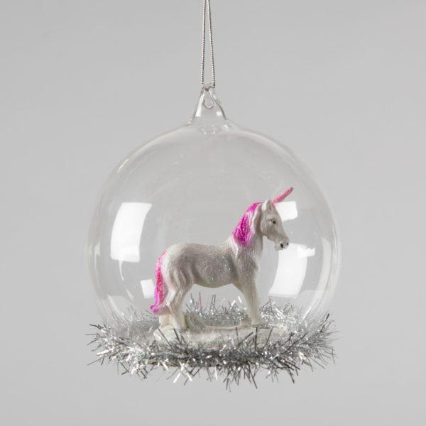 My Little Unicorn Tinsel Dome Christmas Tree Decoration
