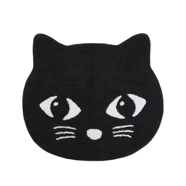 Black Cat Children's Cotton Rug