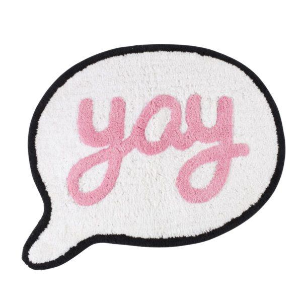 Yay Speech Bubble Children's Cotton Rug