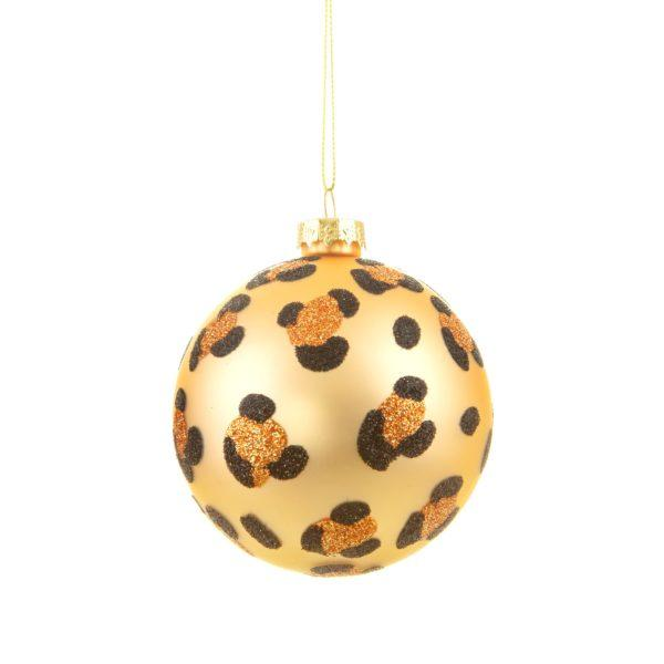Luxe Leopard Print Bauble Christmas Tree Decoration