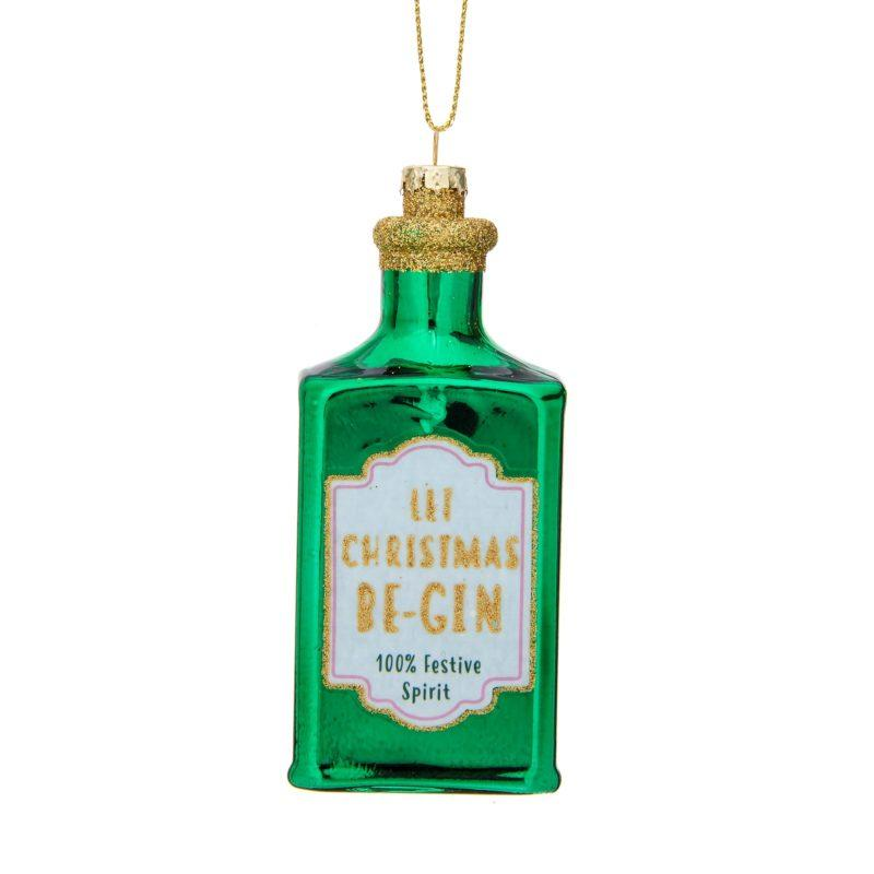 Let Christmas Be-Gin Christmas Tree Decoration