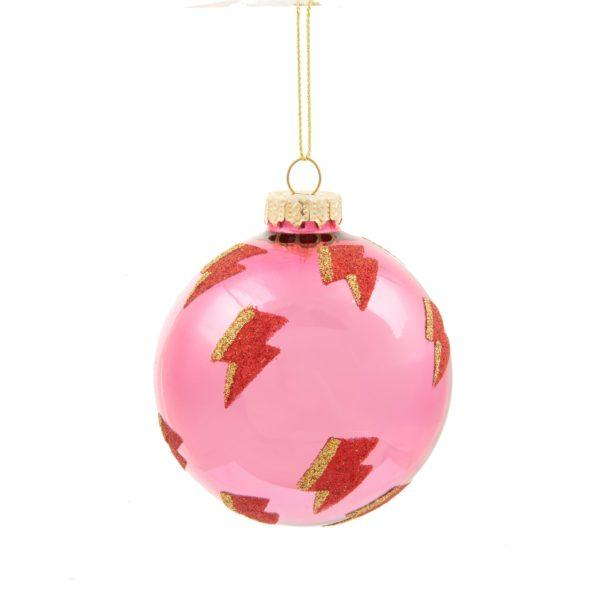 Girl Power Lightning Bolt Bauble Christmas Tree Decoration