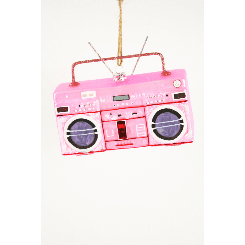 Pink Boombox Christmas Tree Decoration