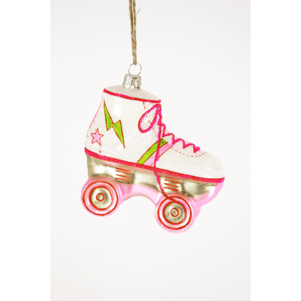 Pink Roller Skate Christmas Tree Decoration