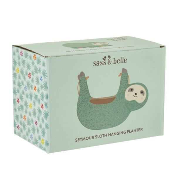 Seymour Sloth Hanging Ceramic Planter