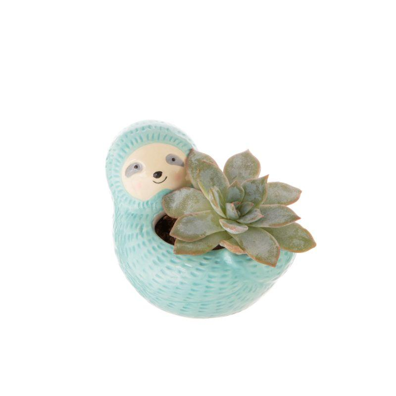 Seymour Sloth Mini Ceramic Planter