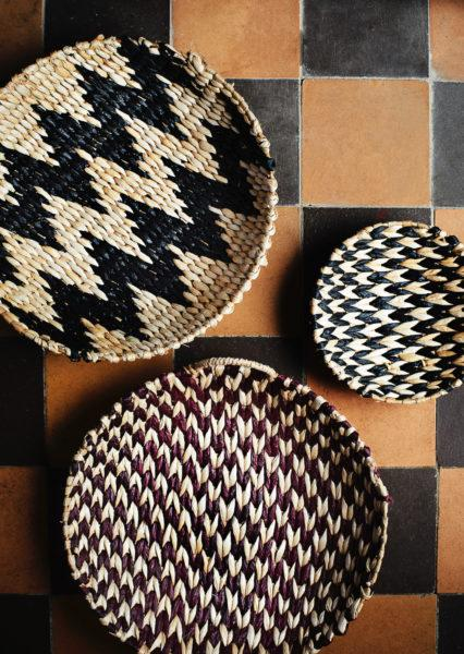 Round Wicker Rope Tray