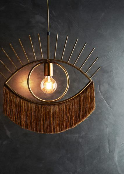 Eye Shaped Pendant Light with Tassels