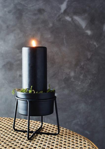 Black Iron Plant Pot with Stand