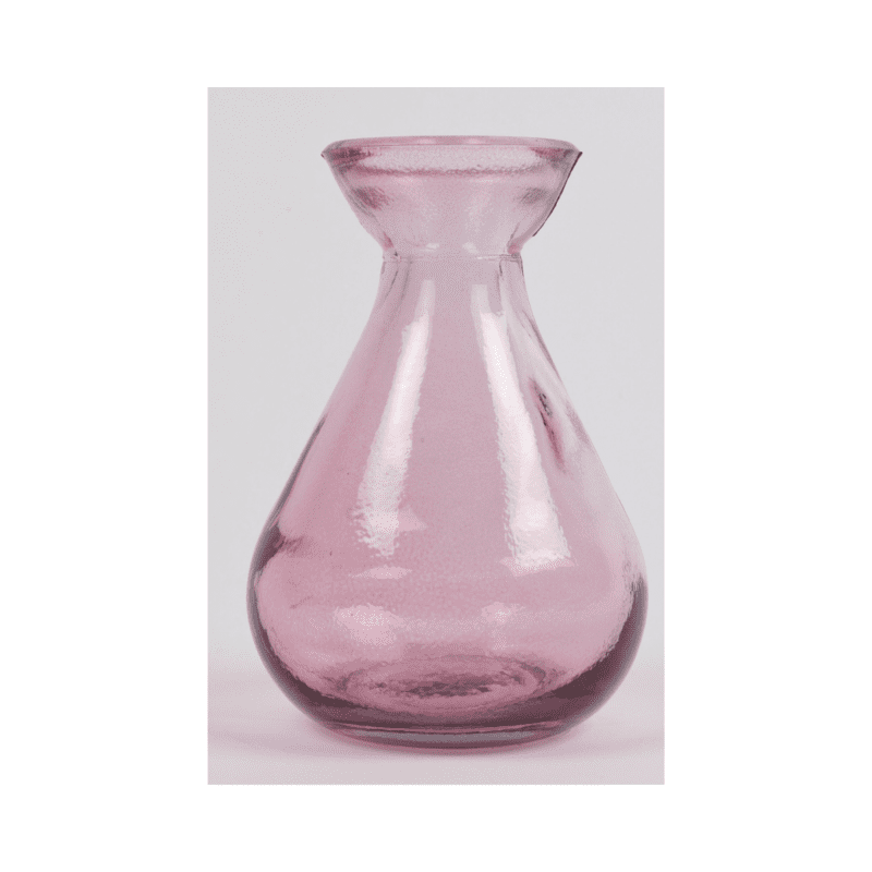 Pink Recycled Glass Bud Vase