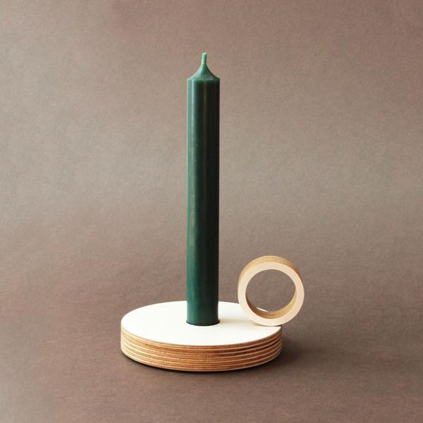 Round Plywood Candle Holder
