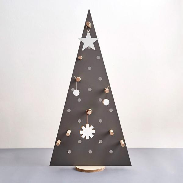 Large Pegboard Christmas Tree - Grey