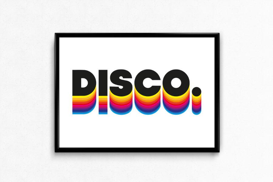 Typography Art Print - Disco