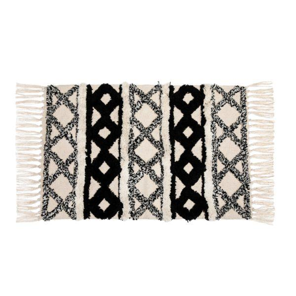 Scandi Boho Black & White Rug