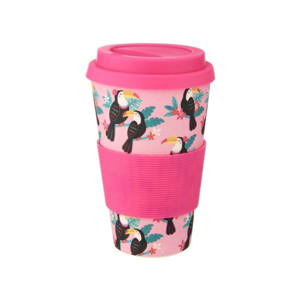 Tiki Toucan Bamboo Coffee Cup