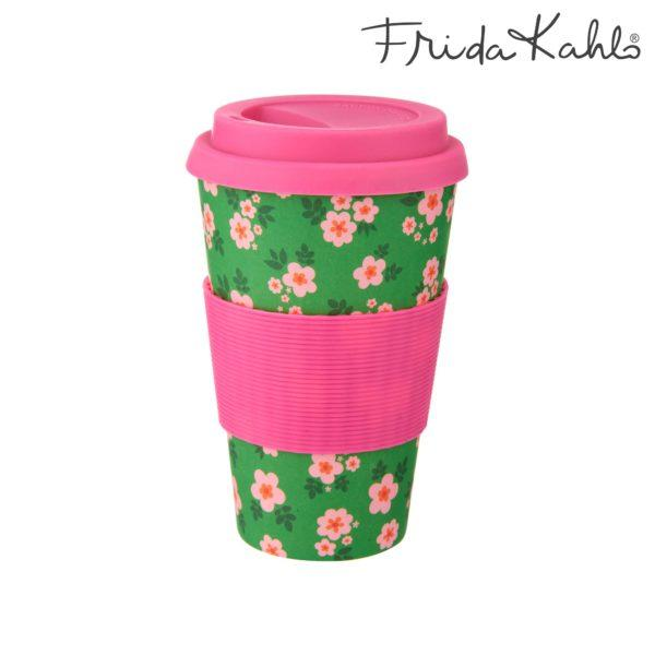 Frida Kahlo Floral Bamboo Coffee Cup