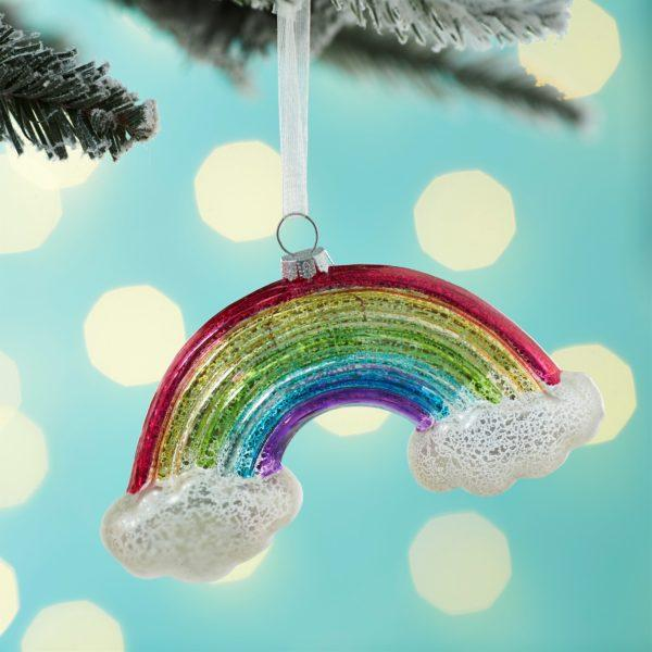 Crackle Glaze Rainbow Christmas Tree Decoration