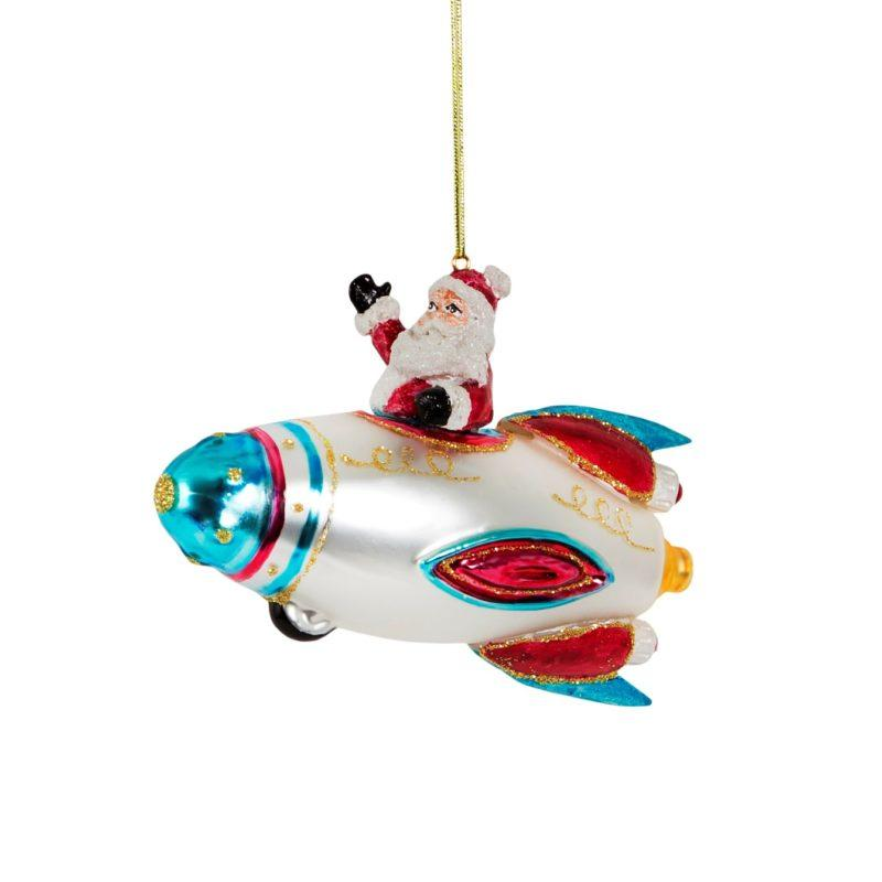 Santa Spaceship Christmas Tree Decoration