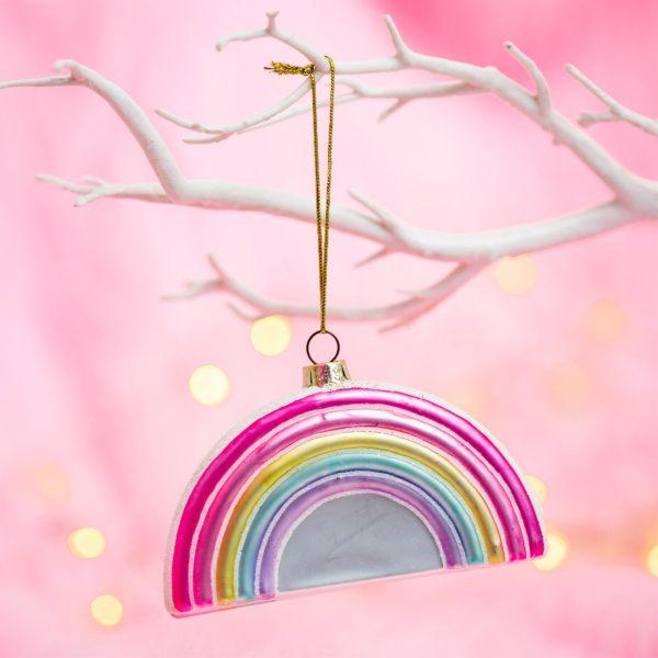 Pastel Rainbow Christmas Tree Decoration
