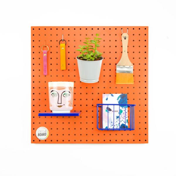 The 50 Metal Pegboard - Coral Orange