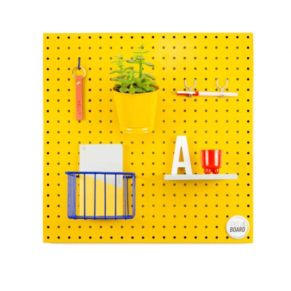 The 50 Metal Pegboard - Mustard Yellow