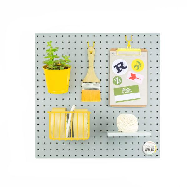 The 50 Metal Pegboard - Grey