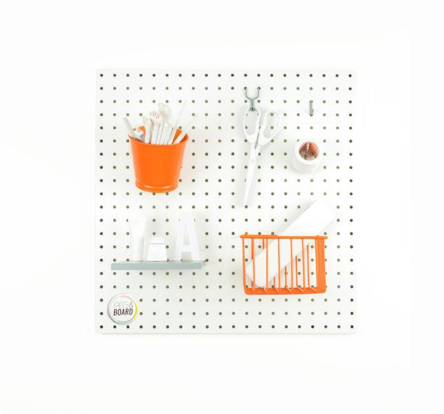 The 50 Metal Pegboard - White