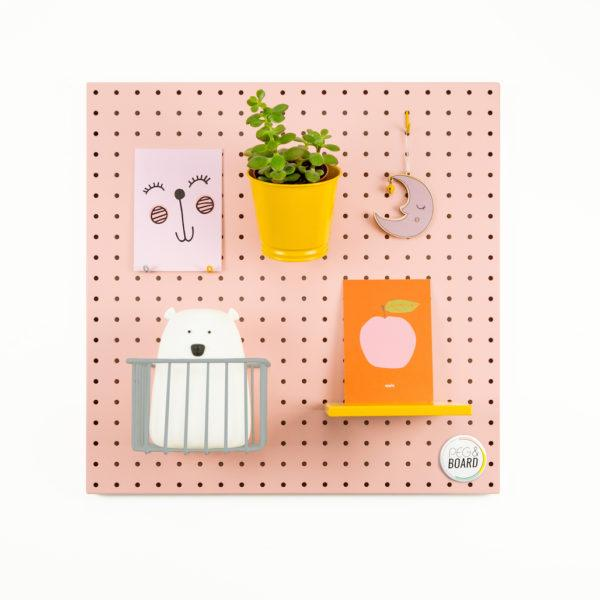 The 50 Metal Pegboard - Blush Pink