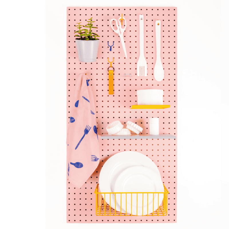 The 100 Metal Pegboard - Blush Pink