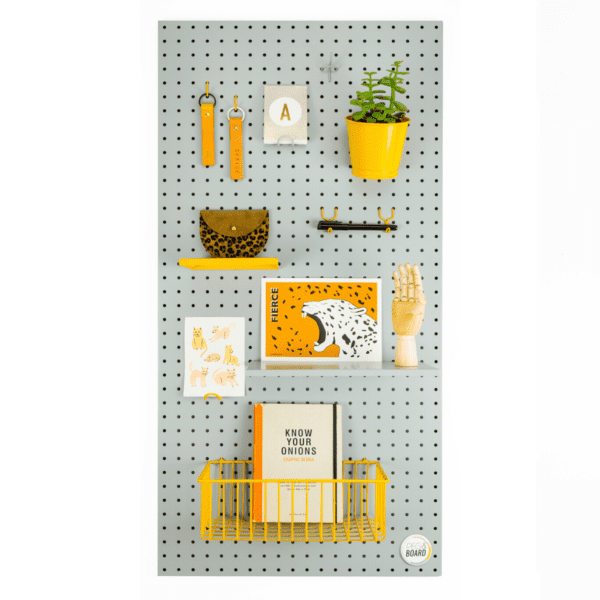 The 100 Metal Pegboard - White