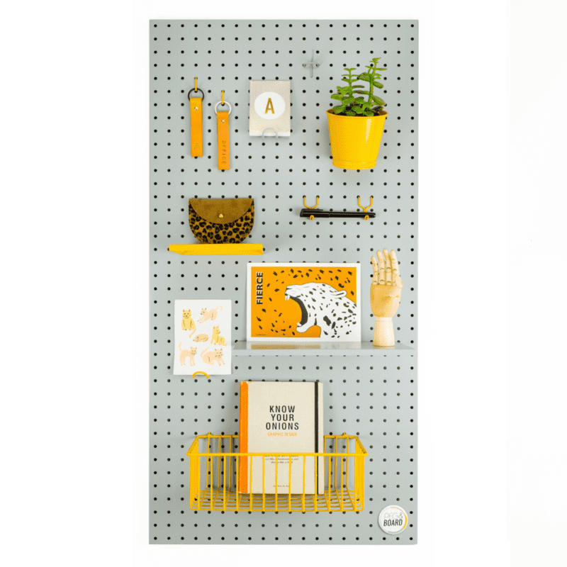 The 100 Metal Pegboard - Grey